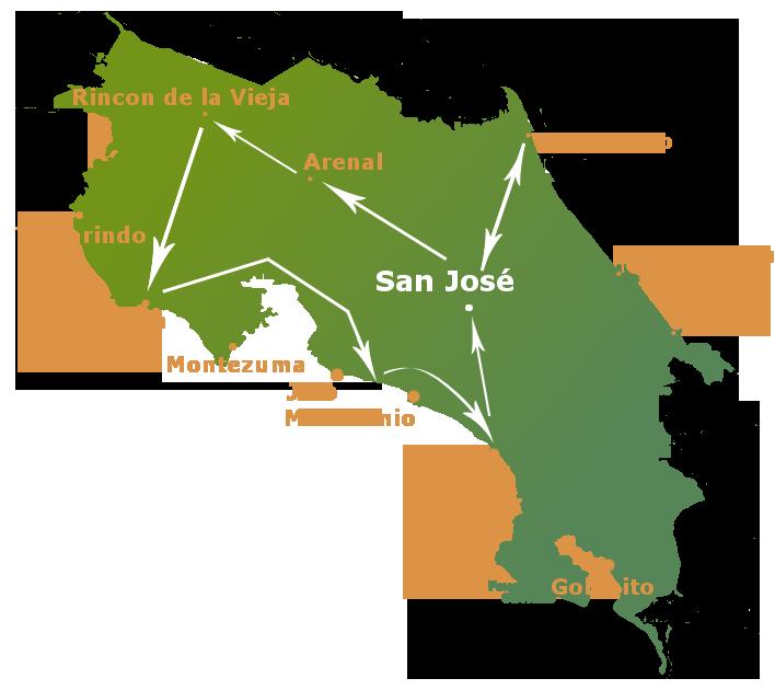 circuit au Costa Rica